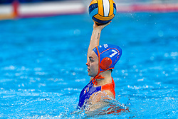 Bente Rogge #7 of Netherlands during the semi final Netherlands vs Russia on LEN European Aquatics Waterpolo January 23, 2020 in Duna Arena in Budapest, Hungary
