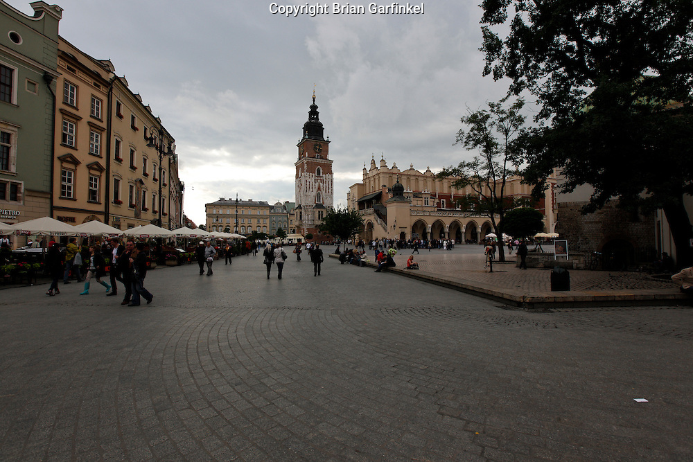 The main square in Krakow, Poland on Monday July 4th 2011.  (Photo by Brian Garfinkel)