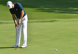 August 10, 2018 - St. Louis, Missouri, U.S. - ST. LOUIS, MO - AUGUST 10: Sergio Garcia putts on the #15 green during the second round of the PGA Championship on August 10, 2018, at Bellerive Country Club, St. Louis, MO.  (Photo by Keith Gillett/Icon Sportswire) (Credit Image: © Keith Gillett/Icon SMI via ZUMA Press)