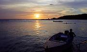 Zonsondergang bij Jan Thiel baai, Curaçao 2014 - Sunset at Jan Thiel Bay, Curaçao 2014