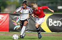 STAVANGER, NORWAY - JUNE 26 :Nicole Banecki  - Gunhild Herregaarden U20 women international friendly match between Norway and Germany at the klepp stadium  on June 26, 2008 in Stavanger, Norway. (Photo by Sigbjoern Anderas Hofsmo, Digitalsport, Bongarts/Getty Images for DFB)