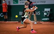 Renata Zarazua of Mexico in action during the second round at the Roland Garros 2020, Grand Slam tennis tournament, on September 30, 2020 at Roland Garros stadium in Paris, France - Photo Rob Prange / Spain ProSportsImages / DPPI / ProSportsImages / DPPI
