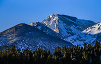 13,327 ft. McHenrys Peak, on the Continental Divide.    Rocky Mountain National Park, Colorado.
