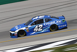 July 13, 2018 - Sparta, Kentucky, United States of America - Kyle Larson (42) brings his race car down the front stretch during practice for the Quaker State 400 at Kentucky Speedway in Sparta, Kentucky. (Credit Image: © Chris Owens Asp Inc/ASP via ZUMA Wire)