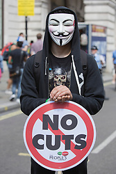 © Licensed to London News Pictures. 21/06/2014. London, England. The No More Austerity demonstration & march takes place in Central London. It was organised by the People's Assembly and it is estimated that approx. 50,000 people joined the protest. Photo credit: Bettina Strenske/LNP