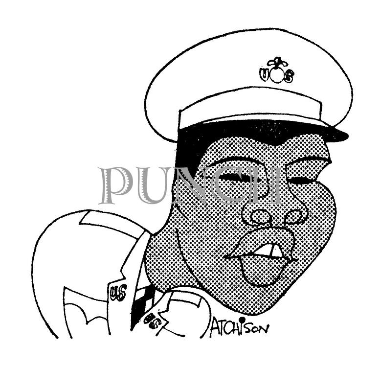(Portrait of Muhammad Ali/Cassisus Clay in US Army uniform)
