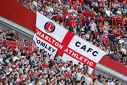 Charlton flag in the amongst the fans - Mandatory by-line: Arron Gent/JMP - 14/09/2019 - FOOTBALL - The Valley - Charlton, London, England - Charlton Athletic v Birmingham City - Sky Bet Championship