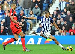 Jose Salomon Rondon of West Bromwich Albion shoots at goal Mandatory by-line: Nizaam Jones/JMP - 24/02/2018 - FOOTBALL - The Hawthorns - West Bromwich, England - West Bromwich Albion v Huddersfield Town- Premier League