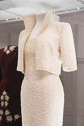 Catherine Walker designed Elvis dress  on display at the Diana: Her Fashion Story Exhibition at Kensington Palace, London.  Picture date: Wednesday 22nd February 2017. Photo credit should read: DavidJensen/EMPICS Entertainment