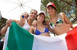 Italian fans during the 13th FINA World Championships Roma 2009, on July 26, 2009, at the Stadio del Nuoto,  in Foro Italico, Rome, Italy. (Photo by Vid Ponikvar / Sportida)