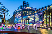 Anaheim Convention Center At Dusk With The Namm Show In Town