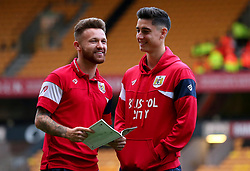 Matty Taylor of Bristol City and Callum O'Dowda of Bristol City arrive at Molineux for the Sky Bet Championship fixture with Wolverhampton Wanderers - Mandatory by-line: Robbie Stephenson/JMP - 12/09/2017 - FOOTBALL - Molineux - Wolverhampton, England - Wolverhampton Wanderers v Bristol City - Sky Bet Championship