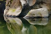 Limestone reflections , Fox River , Paparoa National Park , New Zealand