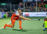 AMSTELVEEN - Floris Wortelboer (Ned)    tijdens  de tweede  Olympische kwalificatiewedstrijd hockey mannen ,  Nederland-Pakistan (6-1). Oranje plaatst zich voor de Olympische Spelen 2020.   COPYRIGHT KOEN SUYK