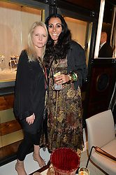 Left to right, LEE STARKEY and SERENA REES at a party to celebrate the opening of the jeweller Ara Vartanian's Flagship Store 44 Bruton Place, London on 7th September 2016.
