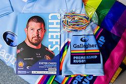 Rainbow colours on the Gallagher Premiership Rugby RFU Match Officials Kit that will be worn by referees and touch judges this weekend with todays match day programme and rainbow laces - Mandatory by-line: Ryan Hiscott/JMP - 24/11/2018 - RUGBY - Sandy Park Stadium - Exeter, England - Exeter Chiefs v Gloucester Rugby - Gallagher Premiership Rugby