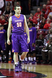 15 January 2016:  Blake Simmons(50) during the Illinois State Redbirds v Evansville Purple Aces at Redbird Arena in Normal Illinois (Photo by Alan Look)