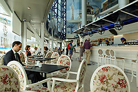 First floor bar & coffee shop, El Corte Ingles, Puerto Banus. April 2017<br />
