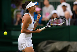 July 1, 2019 - London, GREAT BRITAIN - Shuai Zhang of China in action during the first round of the 2019 Wimbledon Championships Grand Slam Tennis Tournament against Caroline Garcia of France (Credit Image: © AFP7 via ZUMA Wire)