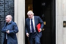 © Licensed to London News Pictures. 28/11/2017. London, UK. Foreign Secretary Boris Johnson leaves 10 Downing Street after the weekly Cabinet meeting. Photo credit: Rob Pinney/LNP