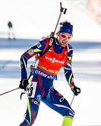 Simon Desthieux (FRA) during Men 12,5 km Pursuit at day 3 of IBU Biathlon World Cup 2015/16 Pokljuka, on December 19, 2015 in Rudno polje, Pokljuka, Slovenia. Photo by Vid Ponikvar / Sportida