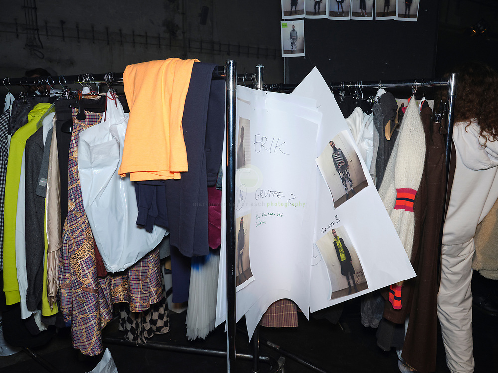 DEU, GERMANY, Berlin, 15.01.2020 /<br /> World premiere: Germany's most famous fashion designer Wolfgang start a new collection aiming for the mass market. To re-position his brand LOOKS for the mass market, Joop is partnering with company Label Crew. The presentation at Kraftwerks is more a minimalistic art sculpture presentation than a classical runway show.