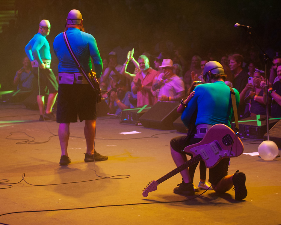 The Aquabats! performing at Pacific Amphitheatre August 14, 2021. (Photo by Miguel Vasconcellos, OC Fair & Event Center)