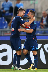 September 20, 2017 - Rome, Lazio, Italy - Dries Mertens of Napoli celebrating with Jorginho of Napoli during the Serie A match between SS Lazio and SSC Napoli at Stadio Olimpico on September 20, 2017 in Rome, Italy. (Credit Image: © Matteo Ciambelli/NurPhoto via ZUMA Press)
