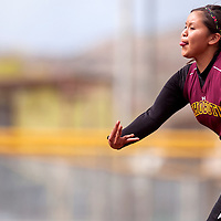 042613       Cable Hoover<br />  <br /> Rehoboth Lynx Leah Rae Francisco (6) pitches to the Zuni Thunderbirds Thursday at Ford Canyon Park.