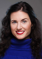 """Company portrait of Danielle DeBow for Missouri Street Theatre's production of """"Once Upon A Mattress."""" Photo by Mike Padua."""