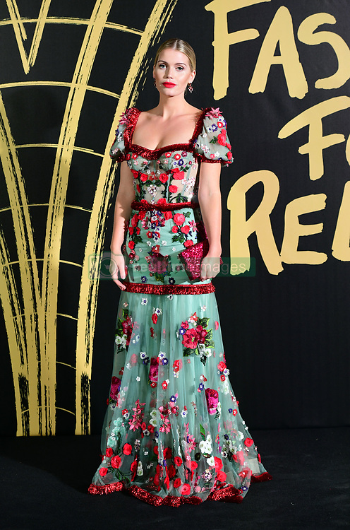 Lady Kitty Spencer arriving on the red carpet for Naomi Campbell's Fashion For Relief Gala, held at the British Museum, London.