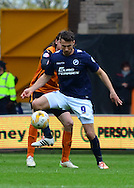 Lee Gregory holds up the ball during the Sky Bet Championship match between Wolverhampton Wanderers and Millwall at Molineux, Wolverhampton, England on 2 May 2015. Photo by Alan Franklin.