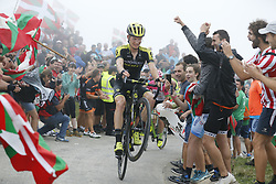 September 12, 2018 - Balcon De Bizkaia, SPAIN - Australian Jack Haig of Mitchelton - Scott pictured in action during the 17th stage of the 'Vuelta a Espana', Tour of Spain cycling race, 157km from Getxo to Balcon de Bizkaia, Spain, Wednesday 12 September 2018. ..BELGA PHOTO YUZURU SUNADA FRANCE OUT. (Credit Image: © Yuzuru Sunada/Belga via ZUMA Press)