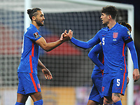 Football - 2022 FIFA World Cup - European Qualifying - Group I - England vs San Marino - Wembley Stadium<br /> <br /> Dominic Calvert - Lewin of England celebrates scoring goal no 2 with John Stones<br /> <br /> Credit : COLORSPORT/ANDREW COWIE