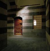 Inside the Khan As'ad Pasha, an ancient caravanseri in the Al-Buzuruyah Souq in Damascus, Syria