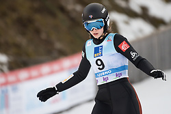 February 8, 2019 - Josephine Pagnier of France on first competition day of the FIS Ski Jumping World Cup Ladies Ljubno on February 8, 2019 in Ljubno, Slovenia. (Credit Image: © Rok Rakun/Pacific Press via ZUMA Wire)