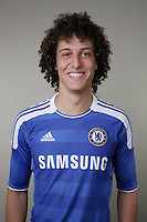 COBHAM, ENGLAND - AUGUST 26:  David Luiz of Chelsea poses during the Chelsea FC Photocall at the Cobham training ground on August 26, 2011 in Cobham, England.  (Photo by Darren Walsh/Chelsea FC via Getty Images)