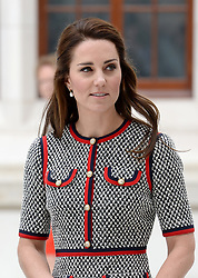 The Duchess of Cambridge at the Victoria and Albert Museum, where she officially opened its new exhibition gallery, in London. Picture credit should read: Doug Peters/EMPICS Entertainment