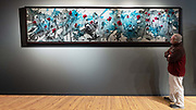 """'KULSHAN MEADOW'  . 13' 4"""" x 3' 2"""" (frame); 156"""" x 34"""" (canvas) . RochonFineArt.com . Acrylic & Ink on Hand Stretched Canvas  & Custom Crafted Frame, Created Exclusively for this Painting by John Henderson<br /> <br /> 'Koma Kulshan, or simply 'Kulshan' is the name often associated with Mt. Baker, a 10,781 active glacier-covered peak in the North Cascades - the second most thermally active crater in the Cascade range, which demanded an enormous painting to capture the breadth of it's grandeur! <br /> <br /> Anyone who's ever hiked it's hundreds of miles of trails knows the endless vistas that stretch into … space.<br />  <br /> Wildflowers!  Endless fields of lush wildfowers as far as the eye can see. This is what I see in 'Kulshan Meadow.' I hope you can visualize it as well.<br /> <br /> This painting began on a vast white 15' canvas stretched across my studio, with very heavy base layers of gesso to create interesting texture.<br /> <br /> Following the heavy texture, numerous acrylic washes were applied where I allowed heavy bodies of liquid acrylics and inks to mix across 15' of canvas in a wild semi-controlled process.  'Allowed' in the sense that I wanted them to 'play' together and find just the right mix of color and viscosity that I could never achieve by forcing them together.<br /> <br /> Thousands of additional brush strokes were added over the following days to add to and bring out the richness, depth and brilliance of this vast landscape as the wildflowers would come life.<br /> <br /> Contact artist directly for price & terms. Will accept Bitcoin or Cardano as payment."""