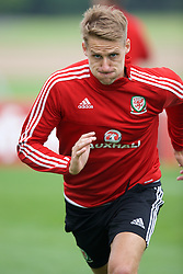 CARDIFF, WALES - Saturday, June 4, 2016: Wales' David Edwards during a training session at the Vale Resort Hotel ahead of the International Friendly match against Sweden. (Pic by David Rawcliffe/Propaganda)