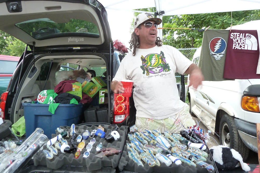 The Vending Scene before the Show. Furthur Band at McCoy Stadium, Pawtucket RI on 5 July 2012
