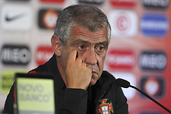 August 30, 2017 - Porto, Porto, Portugal - Fernando Santos head coach of Portugal speaks to the media during a press conference at the FIFA World Cup Russia 2018 qualifier match between Portugal and Ilhas Faroe at Bessa Sec XXI Stadium on August 30, 2017 in Porto, Portugal. (Credit Image: © Dpi/NurPhoto via ZUMA Press)