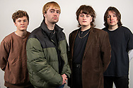 The Zangwills, a UK based indie rock band from Cheshire. The band members are (left to right): Ed Dowling (bass), Adam Spence (drums), Jake Vickers (vocals & guitar), Sam Davies (lead guitar).<br /> Photo©Steve Forrest/Workers' Photos