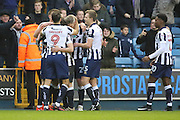 \m209\ celebrating with team mates after scoring 1-0 during the The FA Cup 3rd round match between Millwall and Bournemouth at The Den, London, England on 7 January 2017. Photo by Matthew Redman.