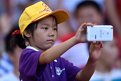 27-08-2015 CHN: IAAF World Championships Athletics day 6, Beijing<br /> Young  supporter with a mobile taking pictures