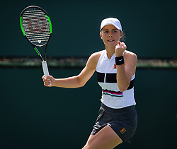 March 9, 2019 - Indian Wells, USA - Natalia Vikhlyantseva of Russia in action during her second-round match at the 2019 BNP Paribas Open WTA Premier Mandatory tennis tournament (Credit Image: © AFP7 via ZUMA Wire)