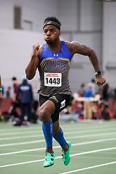BU Terrier Indoor track meet<br /> Armon Kelley, Monroe, 60m