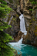 Canadian Rocky Mountains, Banff National Park, Alberta, Johnston Canyon waterfalls