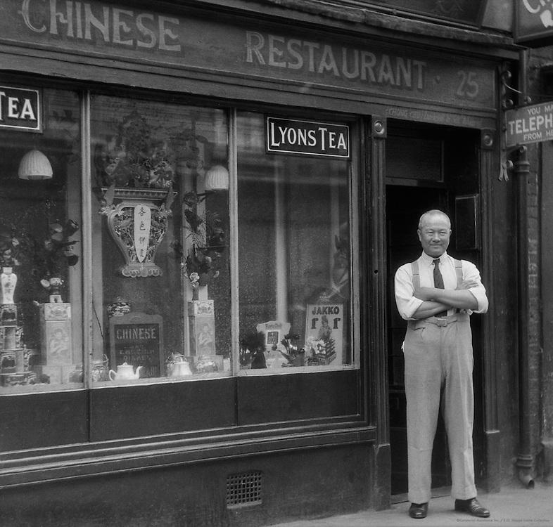 Chinese Restaurant, Chinatown, London, 1933