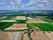 Nederland, Zuid-Holland, Dordrecht, 14-05-2020; Eiland van Dordrecht, Nieuwe Dordtse Biesbosch, landbouwgebied rond de Noorderels. Uiterst links de Nieuwe Merwede,Hollandsch Diep in het verschiet.<br /> New Dordtse Biesbosch, river New Merwede (left).<br /> <br /> luchtfoto (toeslag op standard tarieven);<br /> aerial photo (additional fee required);<br /> copyright foto/photo Siebe Swart